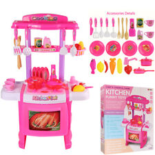 Kitchen Pretend Play Set With Realistic Lights Sounds Kids Toy Toddler Xmas Gift