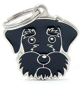 Schnauzer Dog ID Tag (27) - Engraved FREE - Personalised - Charm - Keyring