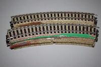 Märklin 5100 10x gebogenes M-Gleis mit Spuren von Anlagenbau Spur H0