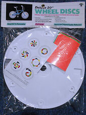 NOS BMX 20 Inch Bicycle Deluxe Disc Wheel Covers Sealed Old School Bike Decals