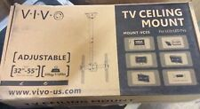 """VIVO TV Vertical Ceiling Mount Stand Lift 32"""" to 55"""" Adjustable Mount VC55 New"""