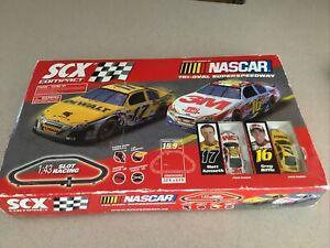 NASCAR Tri-Oval Superspeedway SCX Compact 1:43 Slot Racing Set Read Discription