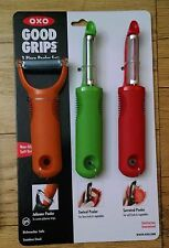 OXO Good Grips 3-Piece Peeler Set, Green/Orange/Raspberry 1137680