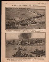 WWI British Army Picardie Cavalry Bataille de la Somme War 1916 ILLUSTRATION