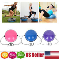"24.4"" Yoga Half Ball Balance Trainer Exercise Fitness Strength Gym Workout +Pump"