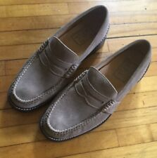 Mint Sperry Top-Sider 0873703 Gold Cup Tan suede Moc Penny Loafers Men's 8.5M