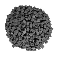250 Dunkelgraue Lego Steine 2x2 - Bausteine (Classic, Star Wars, City usw.)