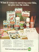 Castrol Range Motor Oil Motorcycle 1976 Magazine Advert #756
