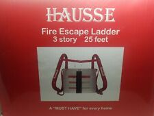 Hausse Retractable 3 Story Fire Escape Ladder, 25 Feet Same Business Day Shippin