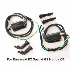 Motorcycle Ignition Coil Set 12V for Kawasaki KZ Suzuki GS Honda CB 650 750 900