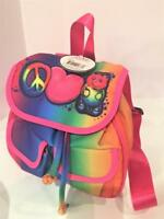 Airbrush Colorful Gummy Bear Peace Sign Young Girls Mini Back Pack Easy Carry