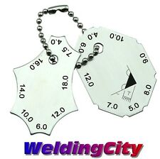 Welding Gauge Two-Piece Gage Stainless Steel | US Seller Fast HG019