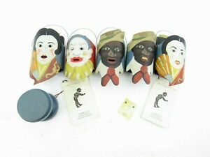 Shadowdancer Metalwork Folk Art Edna Oar Young African American Clown Geisha Lot