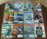 Vintage Guns & Ammo Magazine, World War II Magazine, Newsweek 12 Magazines Lot