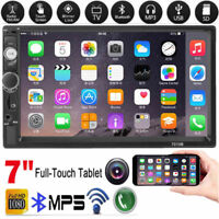 "2 Din 7"" Touch Screen Bluetooth Handsfree Car Stereo Radio FM USB AUX MP5 Player"
