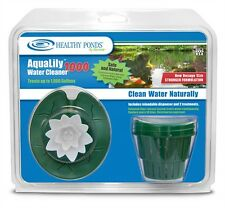 BIOVERSE HEALTHY PONDS #52301 AQUALILY 1000 WATER CLEANER+TREATMENTS- White lily