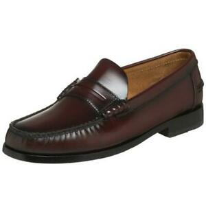 Florsheim Mens Berkley Brown Leather Loafers Shoes 8 Extra Wide (EEE)  BHFO 8101