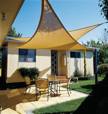 CelinaSun Tenda Parasole a Vela Protezione Solare Giardino Balcone HDPE polietilene Traspirante Triangolo 3,2 x 3,2 x 4,5 m Terracotta