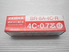 free ship 5 pcs refills Zebra 4C-0.7 ball point pen refill BR-8A-4C-R RED ink