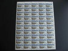Canada $1 Vancouver Sc 600 MNH Sheet,w varieties,folded,crease affects 4 stamps,