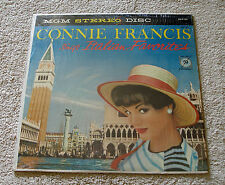 Connie Francis 1959 MGM Stereo LP Connie Francis Sings Italian Favorites