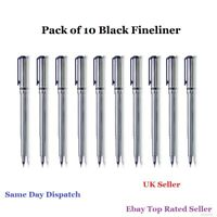 10 Black Fineliners Pens Fine Line Pen Fine Liner Drawing Black Pigment Ink Set