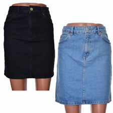 Topshop Denim Regular Size Skirts for Women