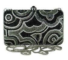 Anthony David Black, Pewter & Silver Crystal Evening Bag w/ Swarovski Crystals