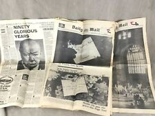 More details for winston churchill newspaper clippings cutting death funeral mixed lot