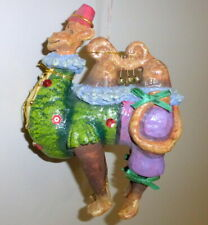 """Vintage Retired Dept 56 Czarry Nights 6"""" Colorful Camel Xmas Tree Ornament"""