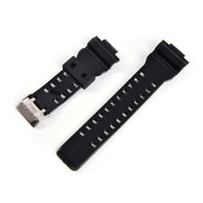 6e2bf1a9f5d1 16mm Rubber Watchband Men Black Sport Diving Silicone Watch Strap For g- shock LU