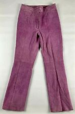 Cami International Womens Pants 12 Lavender Leather Straight Zip Closure Lined