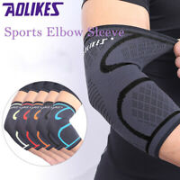 Compression Elbow Brace Sleeves Support Gym Training Lifting Arm Exercise Guard