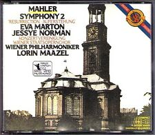 MAAZEL: MAHLER Symphony 2 Jessye NORMAN Eva MARTON CBS 2CD Wiener Philharmoniker