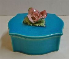 Robertson of Hollywood Vintage Covered Box/Persian Blue