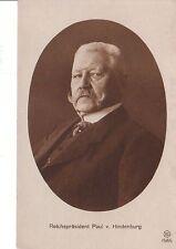 RPPC Postcard Reichsprasident Paul V Hindenburg