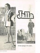 PUBLICITE ADVERTISING 014   1954   BOUSSAC JALLA  tissu éponge peignoir bain