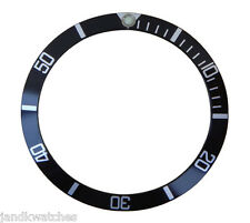 Black & Silver Bezel Insert to Fit Rolex Old Submariner
