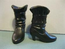 Daniela LIV Fashion Doll Clothes: Moonlight Dance Ruffle Black BOOTS shoes Spin