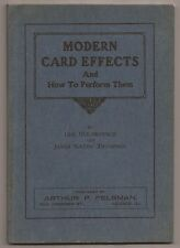 Modern Card Effects And how To Perform Them by George DeLawrence 1920