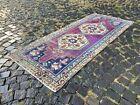 Handmade rug, Runner rug, Turkish rug, Vintage rug, Wool, Carpet | 3,1 x 7,2 ft