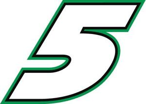 NEW FOR 2021 #5 Kyle Larson Racing Sticker Decal - Sm thru XL - various colors