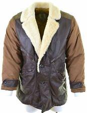 C.P.COMPANY Mens Shearling Leather Jacket IT 52 XL Khaki Ideas-Massimo Osti AL01