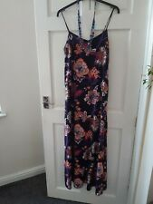 BLACK FLORAL MAXI DRESS SIZE SMALL MOTEL