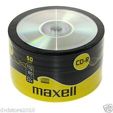 100 CD -R Maxell  vergini vuoti Shirink 50 700MB 52X 80min + 1cd verbatim 624036