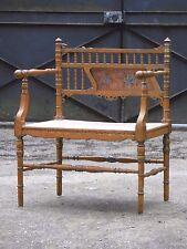 Ancien fauteuil de chambre fin XIXème, art nouveau, à restaurer
