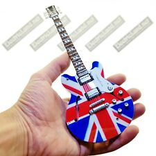 Mini Guitar scale 1:4 NOEL GALLAGHER OASIS uk flag miniature gadget collectible
