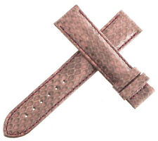 Authentic Van Der Bauwede 18x16mm Pink Snake Skin Watch Band Strap NEW