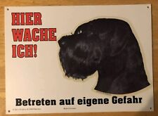 Giant Schnauzer Beware Of Dog Sign In German Language