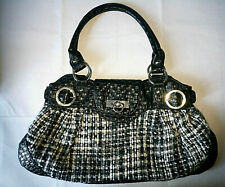 Woven fabric Handbag Pvc handles